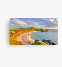 Porthor Bay at Sun down Canvas Print