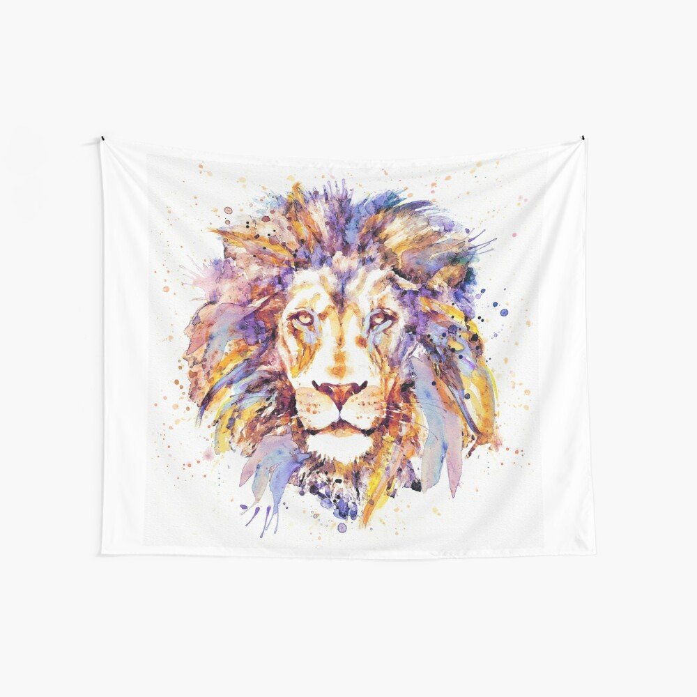 Lion Head Wall Tapestry