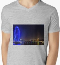 London Eye and the Houses of Parliament, England Mens V-Neck T-Shirt