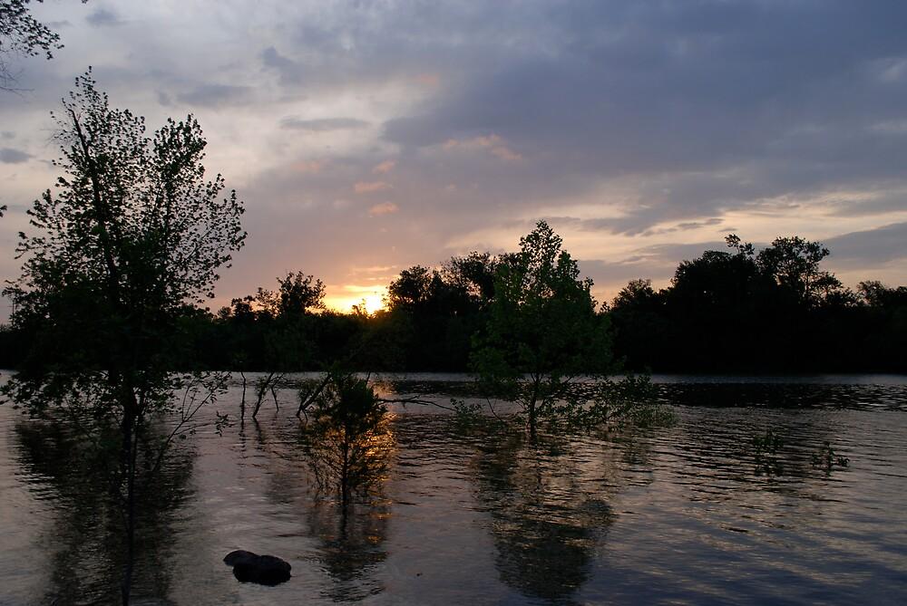 Raging River Sunrise by Jim Caldwell