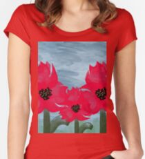 Beautifully Painted Flowers   Women's Fitted Scoop T-Shirt