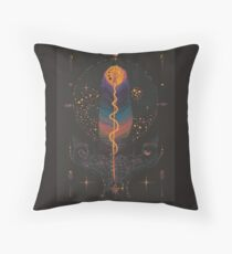 Secrets in Raven Feathers Throw Pillow