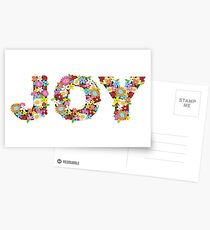 JOY Spring Flowers Postcards