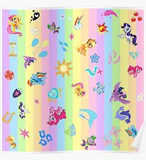 my little pony collage Poster