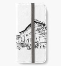 Stipple Drawing - Portmeirion, Wales iPhone Wallet