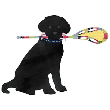 Black Lab Retriever Lacrosse Dog by emrdesigns