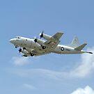 Ein P-3C Orion Flugzeug startet von der Marine Corps Base Hawaii. von StocktrekImages