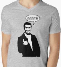 Happy Days Fonzie T-Shirt Mens V-Neck T-Shirt