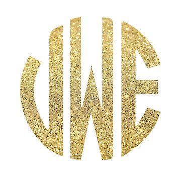 Glitter Monogram: VWE by jaylajones