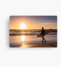 Surfer watching the waves Canvas Print