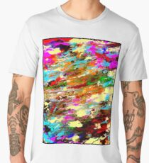 MODERN ABSTRACT : Psychedelic Print Men's Premium T-Shirt