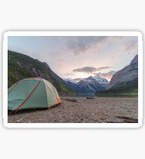 Campsite at Mount Robson Sticker