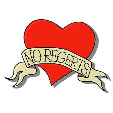 No Regerts bad tattoo heart by hawkguys