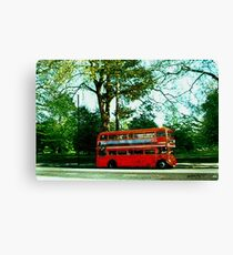 Red Bus Canvas Print