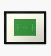 Soccer Pitch, Football Pitch, Soccer Field, Football Field, Football, Soccer, LANDSCAPE Framed Print