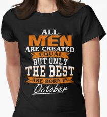 Men the best are born in October Women's Fitted T-Shirt