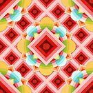 Chinoiserie Circus Geometric by PatriciaSheaArt
