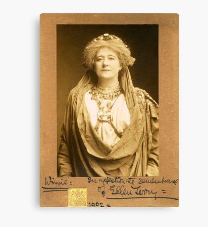 Dame Ellen Terry as Volumnia in Coriolanus Canvas Print