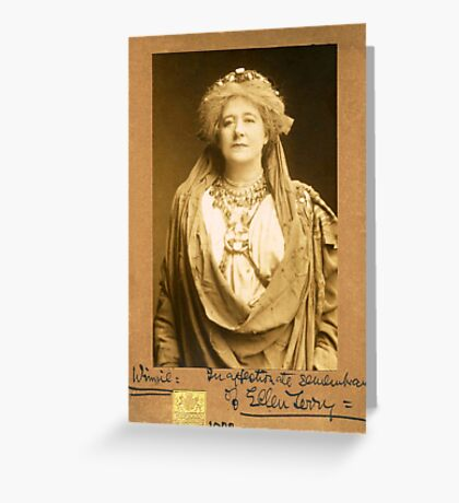 Dame Ellen Terry as Volumnia in Coriolanus Greeting Card