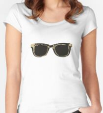 CASEY GLASSES Women's Fitted Scoop T-Shirt
