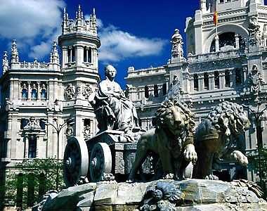 Cibeles fountain in Madrid by chord0
