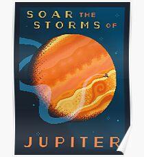JUPITER Space Tourism Travel Poster Poster