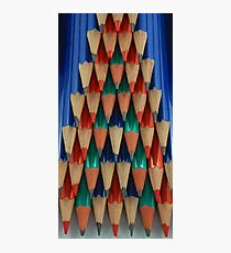 Colored Pencil Shapes Photographic Print
