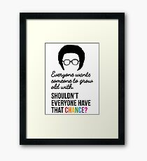 Everyone Wants Someone to Grow Old With - BLK/RNB Framed Print
