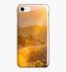 North Carolina Blue Ridge Southern Appalachian Mountain Autumn Sunshine iPhone Case/Skin