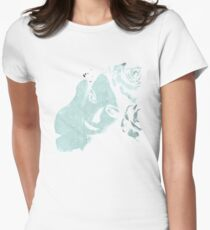 Sick On Sunday: Turquoise (woman with roses, graffiti) T-Shirt