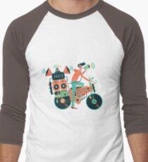 Party bike. Music and cycling Men's Baseball ¾ T-Shirt