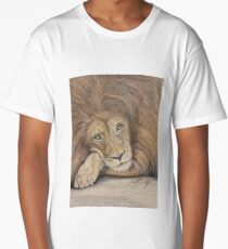 Leo the lazy Lion Long T-Shirt