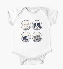 Katzen-Astronauten-Team Heads! Baby Body Kurzarm