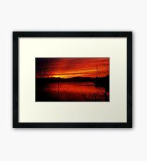 A Sunset Mood Framed Print
