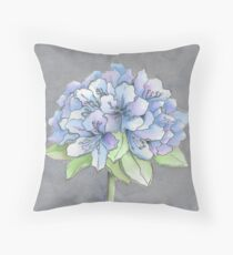 BLUE PURPLE HYDRANGEA Throw Pillow