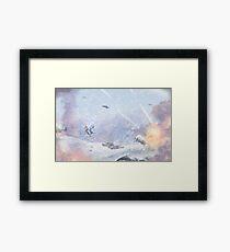 Burning Snow Framed Print