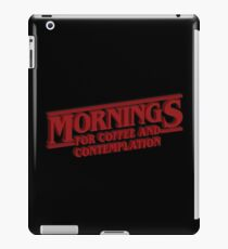 Coffee and Contemplation iPad Case/Skin