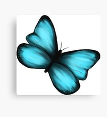 Life is Strange Blue Butterfly Canvas Print