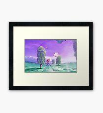 Eighties Dive Framed Print