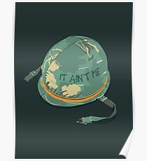 It Ain't Me - Fortunate Son Vietnam Army Soldier Helmet CCR Poster