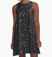 Hubble, astronomy, NASA, Extreme Deep Field image, Deep, Space, Cosmos, Cosmic, Constellation, Fornax A-Line Dress