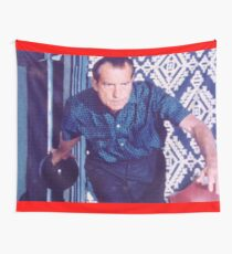 Richard Nixon Bowling Wall Tapestry