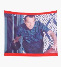 Richard Nixon Bowling Wall Tapestry