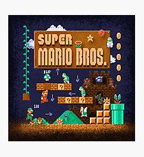 Mario Super Bros Photographic Print