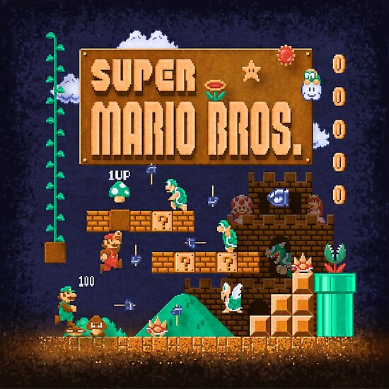 Mario Super Bros by likelikes