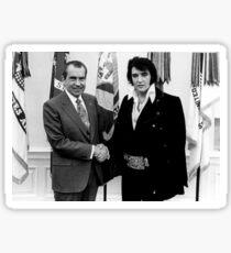 Richard Nixon And Elvis Sticker