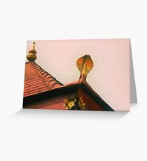 the snake temple Greeting Card