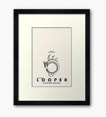 Looper - Alternate Minimalist Poster Framed Print