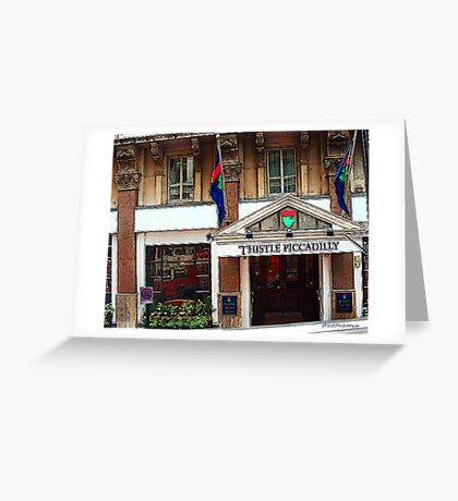 Thistle Piccadilly Hotel Greeting Card