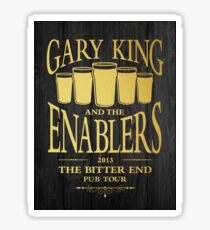 Gary King and the Enablers Sticker